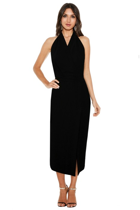 Dion Lee Line II - Soft Lace Dress in Black - Black - Front