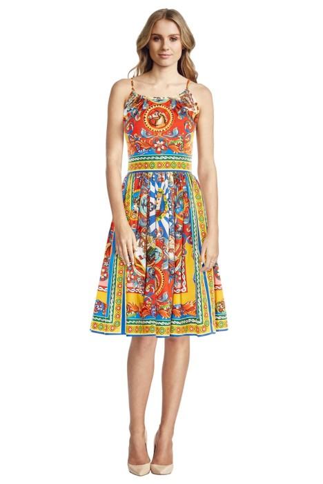 Dolce & Gabbana - Carretto Print Sleeveless Dress - Front