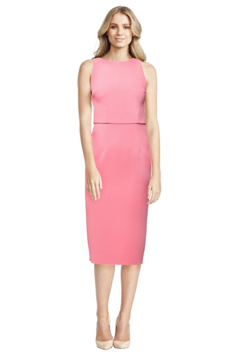 Yeojin Bae - Double Crepe Sophie Dress - Front - Pink