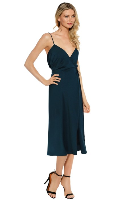Dyspnea - Gangsta Wrap Dress - Teal - Front