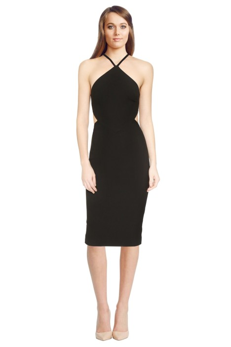 Elizabeth And James - Riza Dress - Black - Front