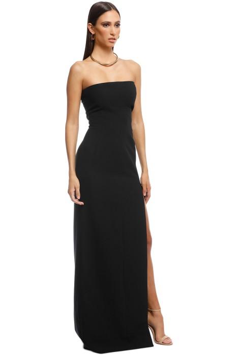 4f7a1e736f2d7 Elizabeth and James - Seiler Strapless Stretch Cady Maxi Dress - Black -  Side