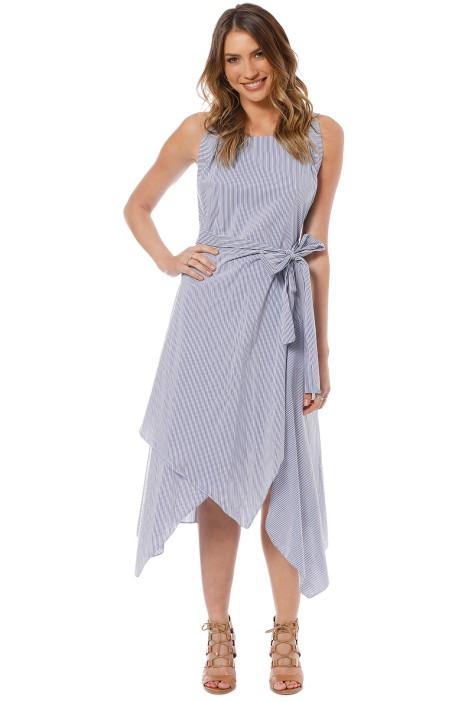 Elka Collective Gisele Dress - Blue Stripe - Front