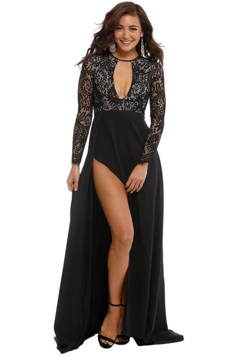 Alexandria Black Gown by Elle Zeitoune for Hire | GlamCorner