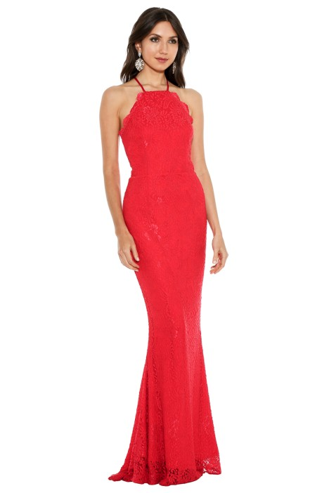 Lori Red Gown by Elle Zeitoune for Hire | GlamCorner