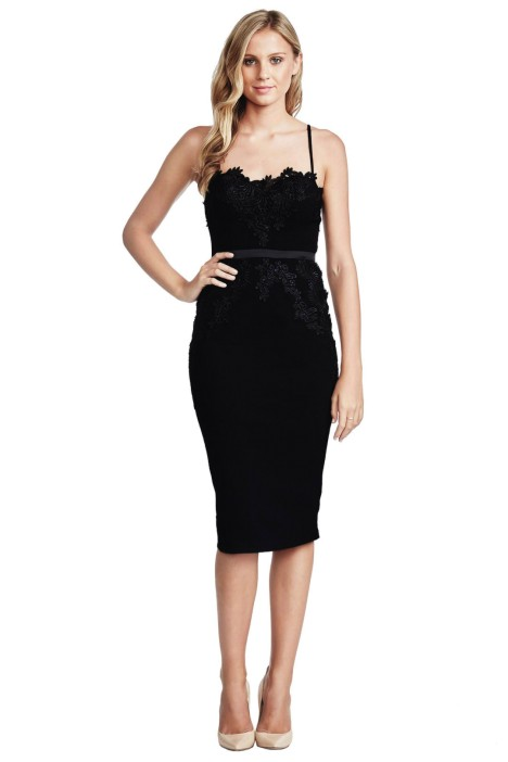 Elle Zeitoune - Black Madeline Dress - Front