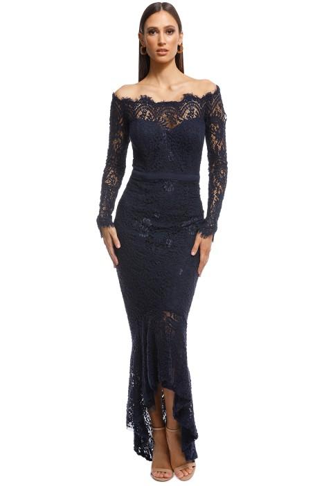 50d47518220 Marchesa Gown in Navy by Elle Zeitoune for Hire | GlamCorner