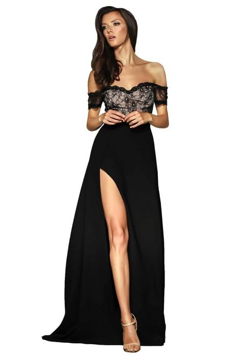 Elle Zeitoune - Montana Gown - Black - Front