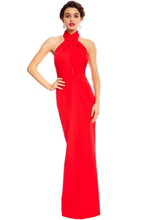 590fc3c872be8 Elle Zeitoune - Winona Red Gown - Red - Front