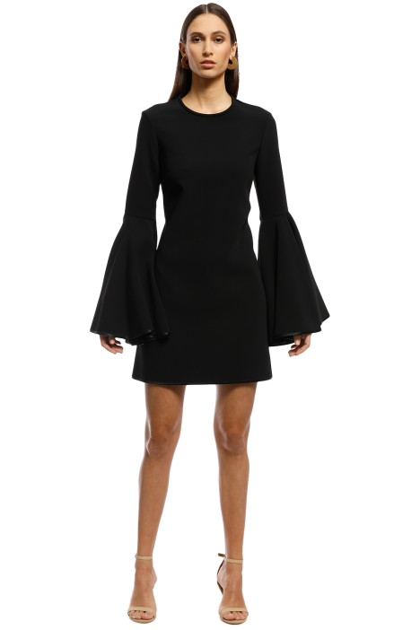 Ellery - Dogma Flare Sleeve Mini Dress - Black - Front