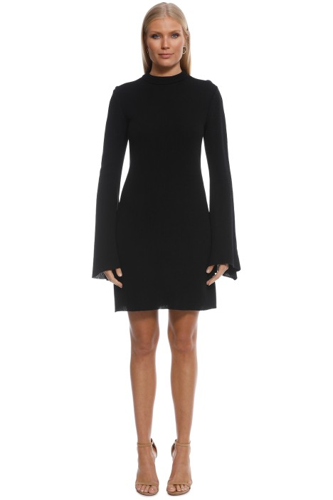 Ellery - Duckie Funnel Neck Tunic Black - Black - Front