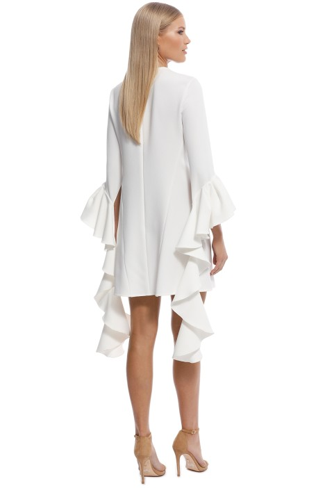 68b7a59feb76 Kilkenny Frill Sleeve Mini Dress in Ivory by Ellery for Hire ...