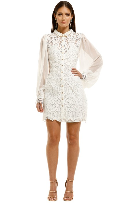 Elliatt-Darcie-Dress-Monochrome-White-Front