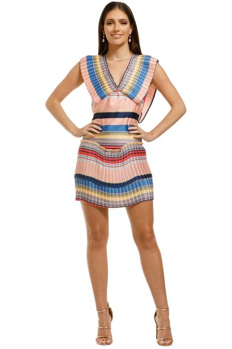 Elliatt-Golden-Dress-Multi-Front