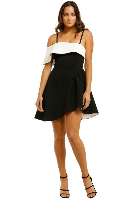 Elliatt-Mila Dress-Black-White-front