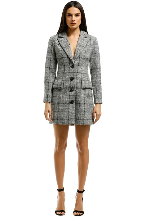 Elliatt-Prato Blazer Dress-Grey-Front
