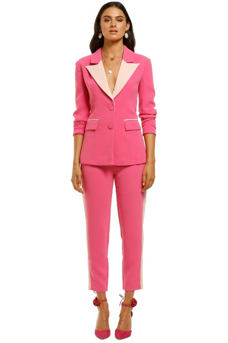 Elliatt-Star-Blazer-and-Pant-Set-Hot-Pink-Front