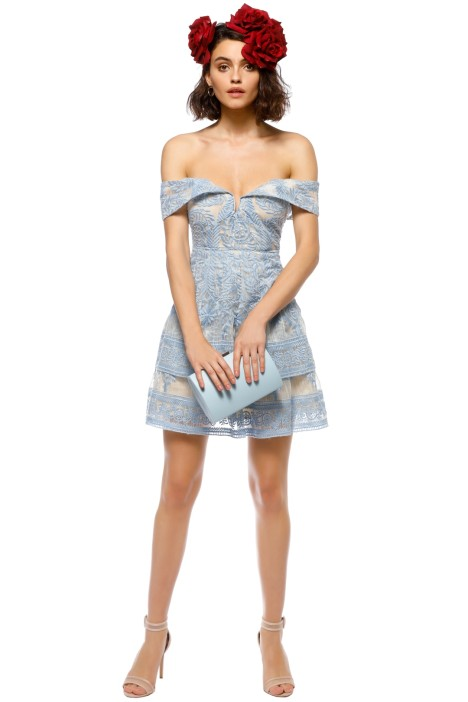 b01c488db04f Antoinette Sleeveless Dress in Sky Blue by Elliatt for Hire