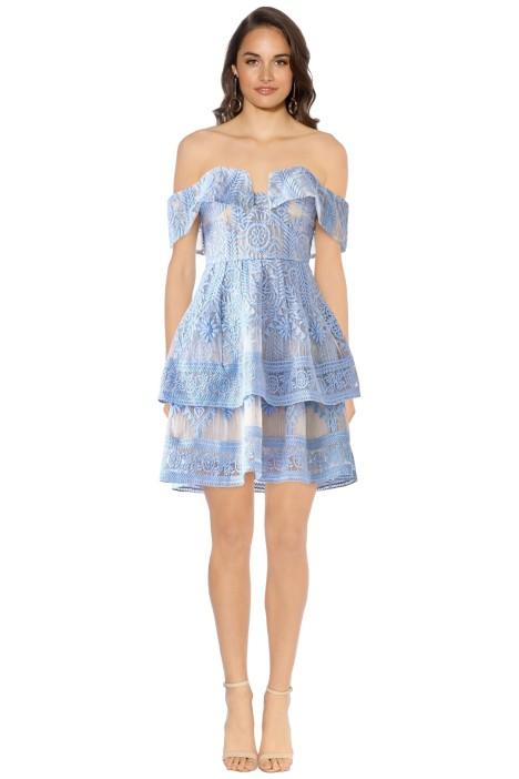 Elliatt - Antoinette Sleeveless Dress - Sky Blue - Front
