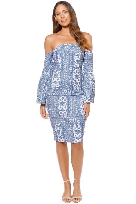 Elliatt - Manet Midi Dress - Blue - Front