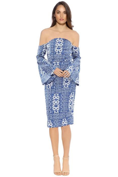 Elliatt - Manet Midi Dress - Blue Print - Front