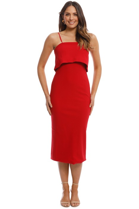 Elliatt - Marino Dress - Red - Front