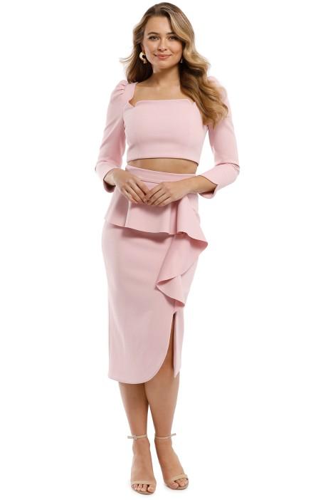 Elliatt - Phoebe Top and Skirt Set - Pink - Front