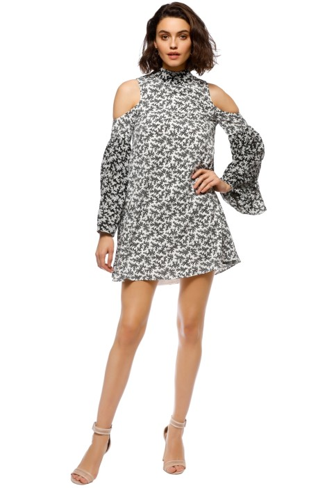 Elliatt - Poet Dress - Black White - Front