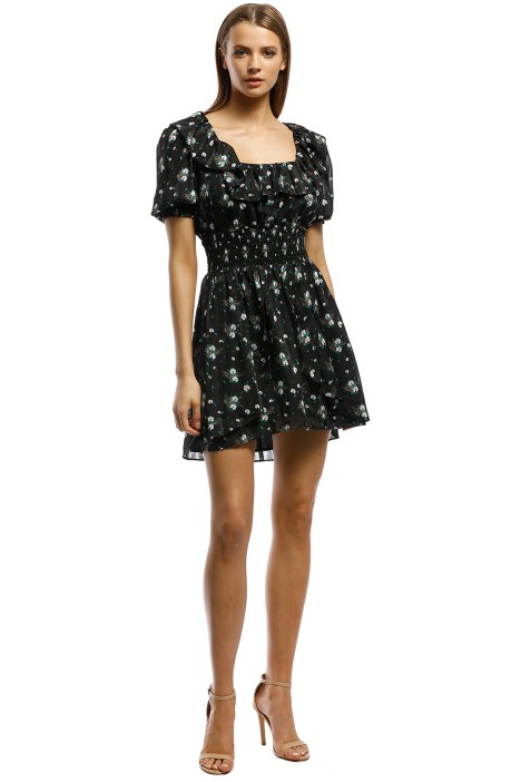 Elliatt - Posy Dress - Black Floral - Front