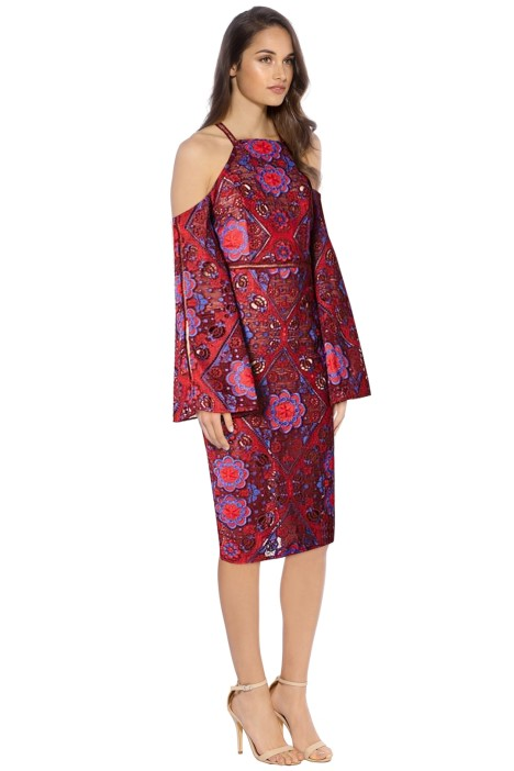 Elliatt - Renaissance Dress - Red Floral - Side