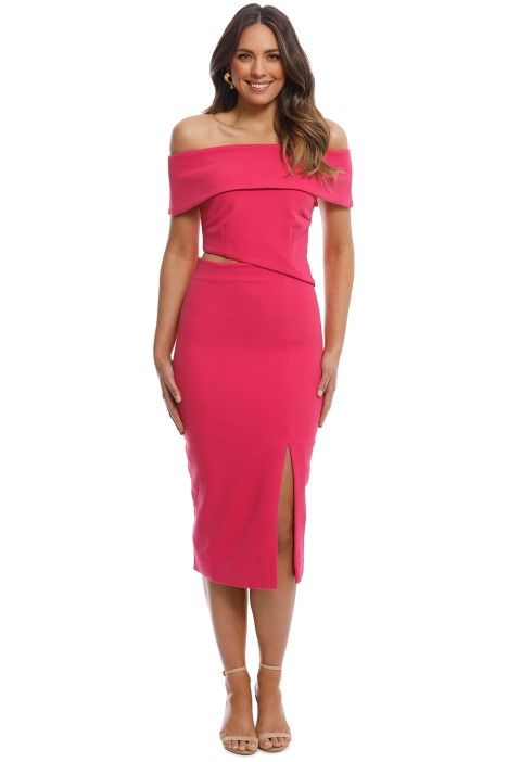 Elliatt - Serpentine Dress - Pink - Front