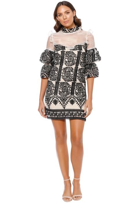 Elliatt - Voltaire Dress - Black - Front