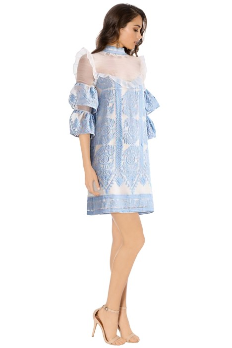 Elliatt - Voltaire Dress - Sky Blue - Side