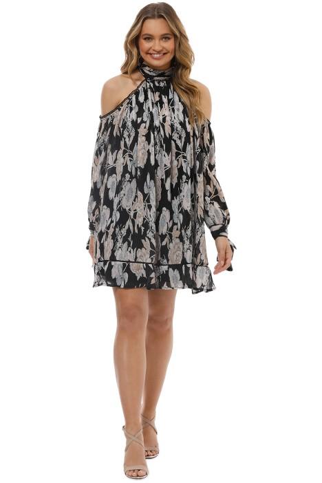Elliatt - Impressionist Trapeze Dress - Floral Print - Front