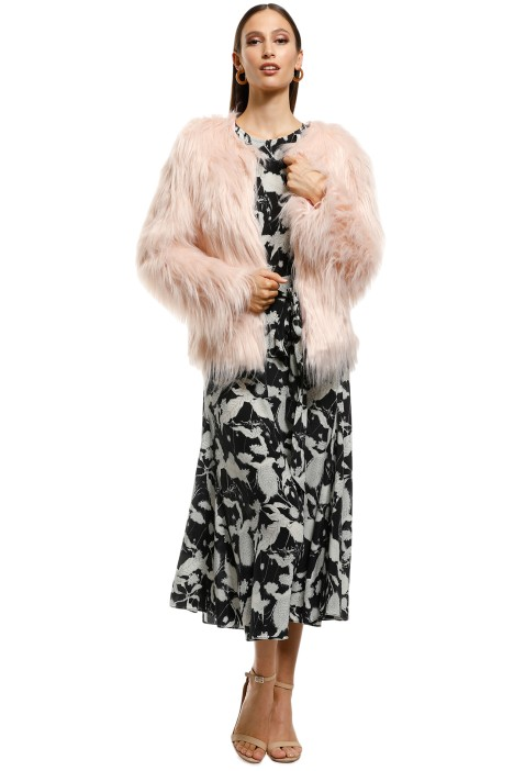 Everly - Marmont Faux Fur Jacket - Soft Pink - Front