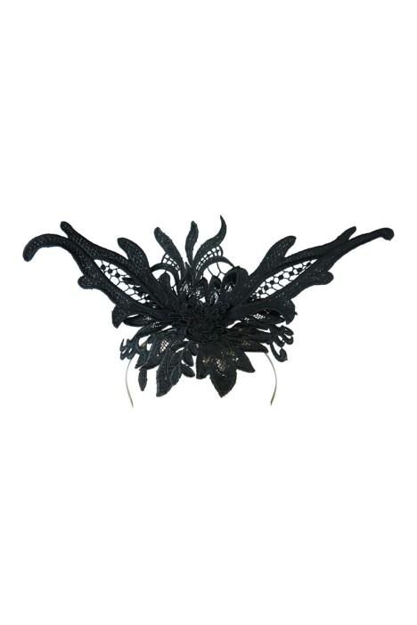 Morgan and Taylor - Valencia Lace Fascinator - Black - Front