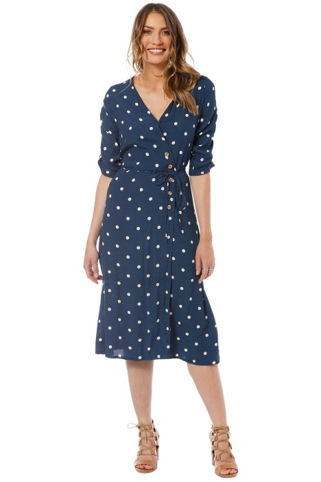 Faithfull - Anne Marie Midi Dress - Blue - Front