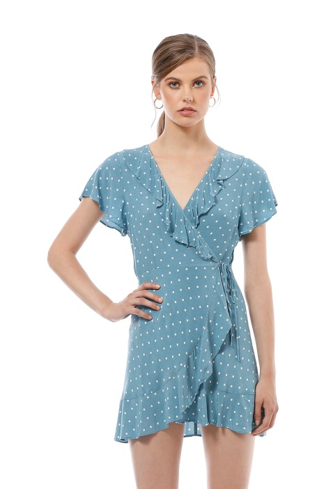 Polly Frill Neck Wrap Mini Dress By Auguste For Hire