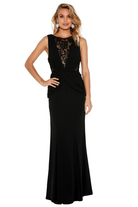 Fame & Partners - Lace Sophie Dress - Black - Front