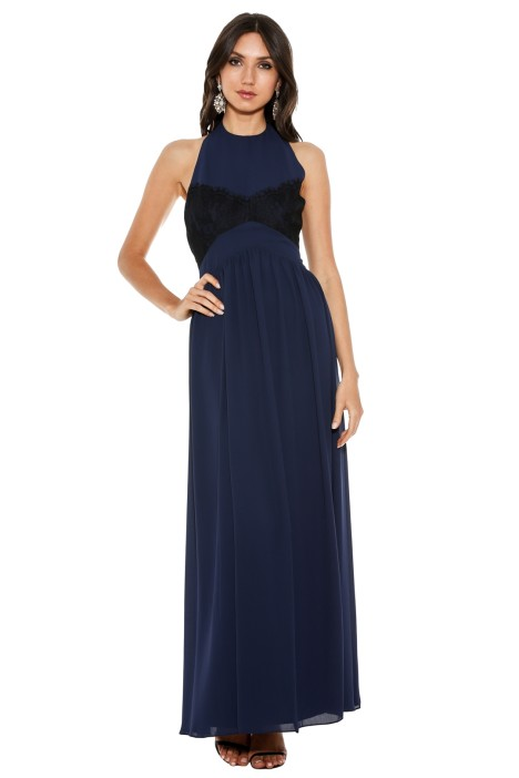 Fame & Partners - Midnight Flutter Dress - Blue - Front