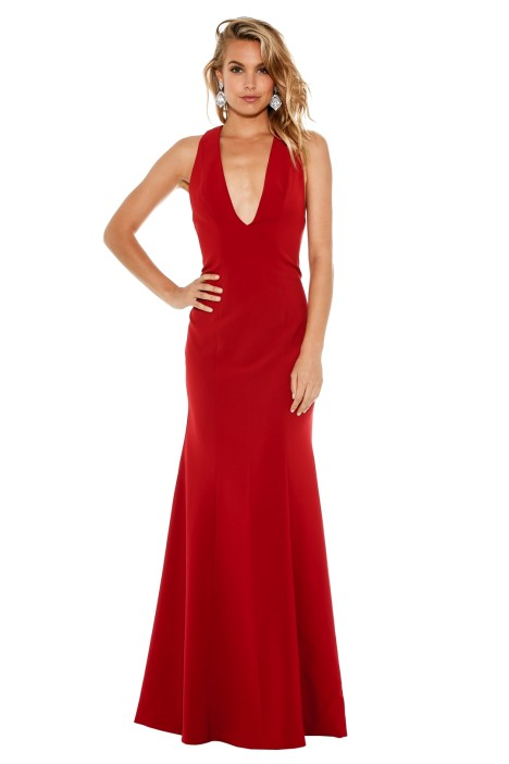 Fame & Partners - Pavo Dress - Red - Front