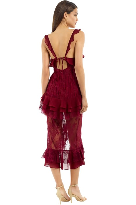 Daphne Lace Midi Dress Bordeaux