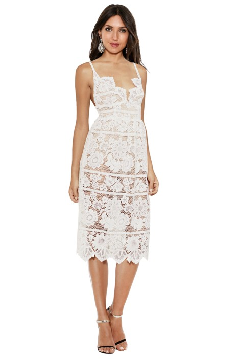 For Love and Lemons - Gianna Dress White - Front