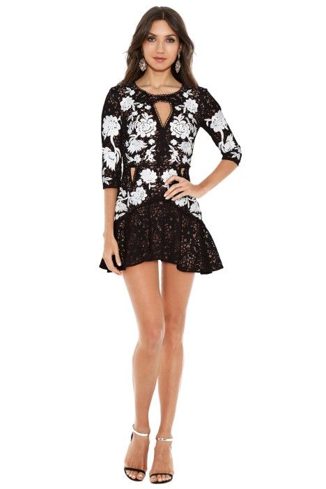 For Love and Lemons - Mallorca Embroidery Dress - Black - Front