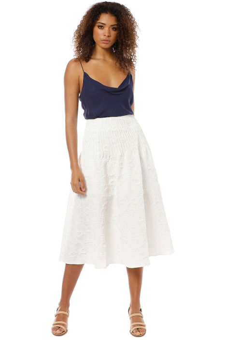 Friend of Audrey - Brooke Textured Full Skirt - White - Front