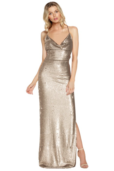 Gemeli Power - Fishcale Dupey Gown - Front