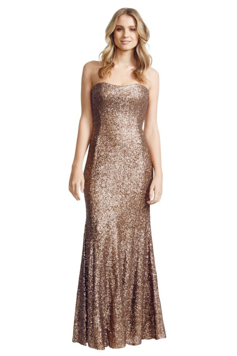 George - Adrina Gown - Brown - Front
