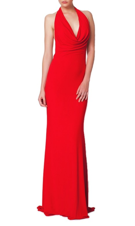 George - Davina Gown - Red - Front