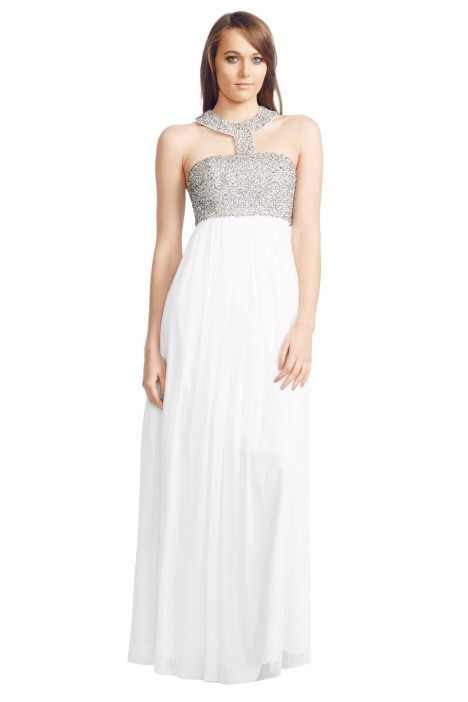 George - Ellena Gown - Front - White