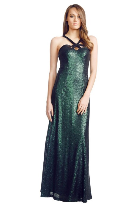 George - Emerald Luna Gown - Green - Front